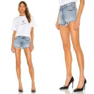 Levi's 501 Light Wash Button Fly Mid Rise Shorts